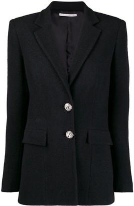 Alessandra Rich Single-Breasted Tweed Blazer
