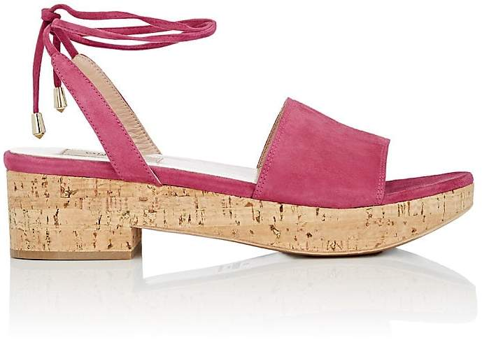 Valentino Women's Erin B. Suede Ankle-Tie Sandals