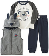 Kids Headquarters 3-Pc. Hooded Dog Vest, T-Shirt & Pants Set, Baby Boys (0-24 months)