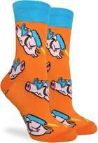 Good Luck Sock Women's Flying Pigs Crew Socks