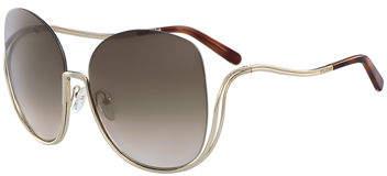 Chloé Milla Square Semi-Rimless Sunglasses