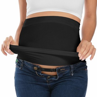 Yeshape Bamboo Belly Band For Pregnancy with 2 PC of Waist Extenders for All Stages of Pregnancy Postpartum - black - 2