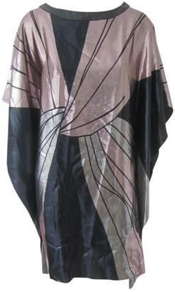 Alexis Mabille Metallic Silk Dress for Women