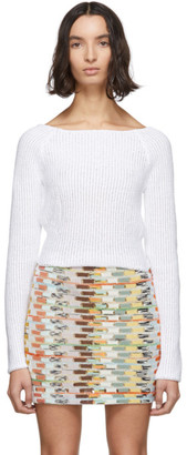 Eckhaus Latta White Vining Apron Sweater