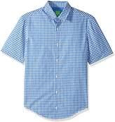 HUGO BOSS BOSS Green Men's C-Bustaino Check Short Sleeve Shirt
