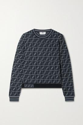 Fendi Jacquard-knit Sweater - Gray