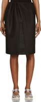 Simone Rocha Black Side Gathered Neoprene Skirt