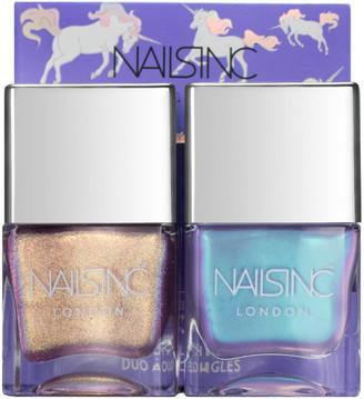 Nails Inc Sparkle Like a Unicorn Nail Varnish Duo Kit 2 x 14ml