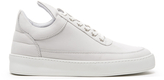 Filling Pieces Women's Plain Matte Nubuck Low Top Trainers White