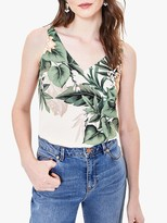 Oasis Tropical Print Vest Top, Neutral