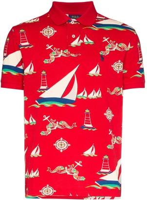 Polo Ralph Lauren Boat print polo shirt