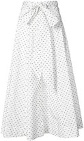 Lisa Marie Fernandez polka dot bow beach skirt - women - Cotton - 1