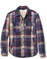 Gap Plaid sherpa-lined shirt jacket