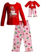 Dollie & Me Girls 4-14 Santa Cupcake Pajama Set