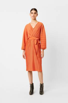 French Connenction Regi Pleated Sleeved Dress