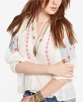 Denim & Supply Ralph Lauren Embroidered Cotton Gauze Top