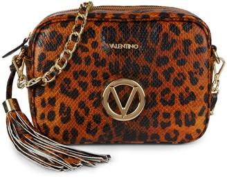 Mario Valentino Mia Animalier Cheetah Leather Camera Bag