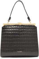 Mansur Gavriel Elegant Crocodile-embossed Leather Handbag - Womens - Black