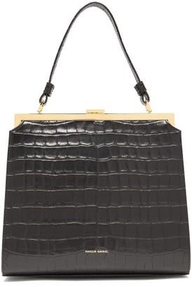 Mansur Gavriel Elegant Crocodile-effect Leather Handbag - Womens - Black