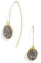 BaubleBar Nightfall Threader Druzy Drops-Gray