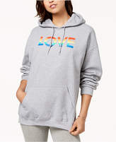 Hybrid Juniors' Love Graphic-Print Hoodie