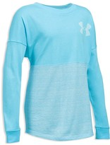 Under Armour Girls' Color Block Tech Tee - Big Kid