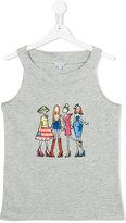 Simonetta girl print tank top - kids - Cotton/Modal - 14 yrs