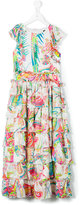 Roberto Cavalli printed tiered ruffled dress - kids - Silk/Acetate/Cupro - 10 yrs