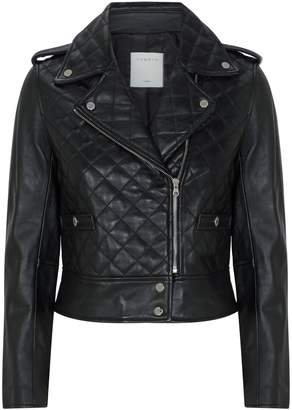 Sandro Quilted Leather Jacket