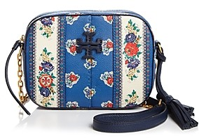 Tory Burch McGraw Floral Leather Crossbody Camera Bag