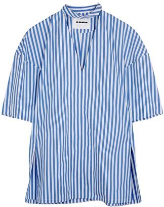 Jil Sander Striped cotton blouse
