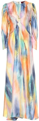 Sies Marjan Virginia printed silk maxi dress
