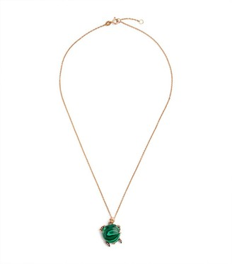 Cédille Cedille Rose Gold and Diamond Into the Deep Turtle Necklace