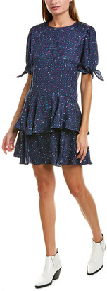 Rebecca Taylor Jacquard Silk-Blend A-Line Dress