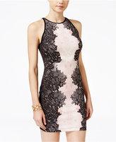 B. Darlin Juniors' Printed Bodycon Scuba Dress