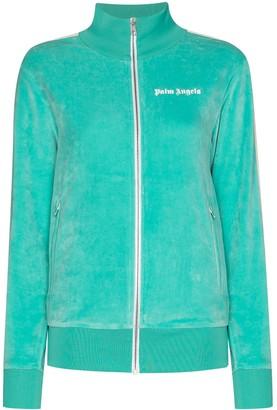 Palm Angels Zip-Up Side Panel Sweatshirt