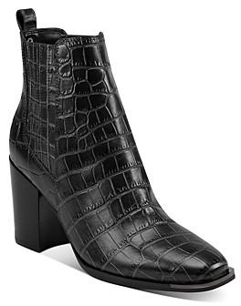 Marc Fisher Women's Taline Croc-Embossed Booties