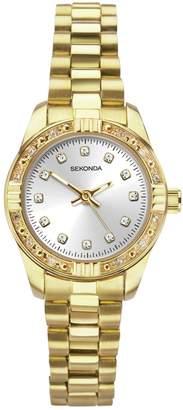 Sekonda Ladies Gold Coloured Bracelet Watch