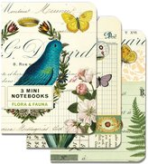 Cavallini & Co. Flora and Fauna 4x5, 3 Mini Notebooks