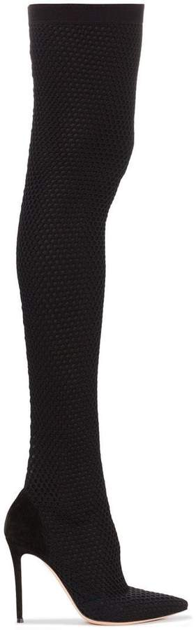 Gianvito Rossi black vox cuissard 105 knee high boot