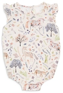 Elegant Baby Girls' Floral Print Bubble Romper - Baby