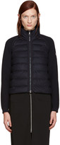 Moncler Navy Down Panel Jacket