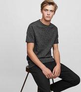 Reiss Preston - Stripe Crew-neck T-shirt in Black, Mens