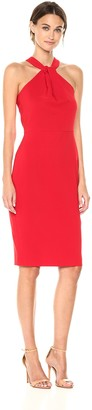 Taylor Dresses Women's Criss Cross Keyhole Sheath Dress