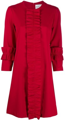 Blumarine Ruffle Trim Dress