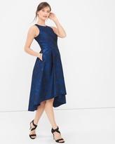 White House Black Market Jacquard High-Low Dress