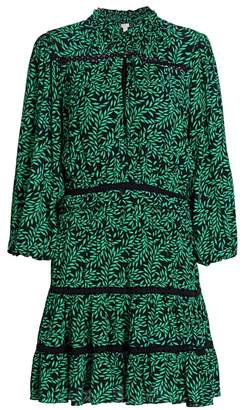 Joie Salama Printed Puff-Sleeve Dress