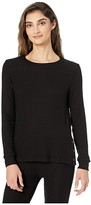 Beyond Yoga Your Line Buttoned Pullover (Black) Women's Clothing