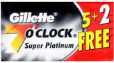 Gillette 7 O'Clock Super Platinum by 7 Blades)