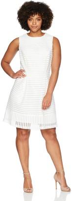 Jessica Howard JessicaHoward Women's Size Sleeveless A-Line Dress with Beaded Neckline